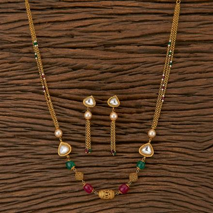 500240 Antique Mala Necklace With Gold Plating