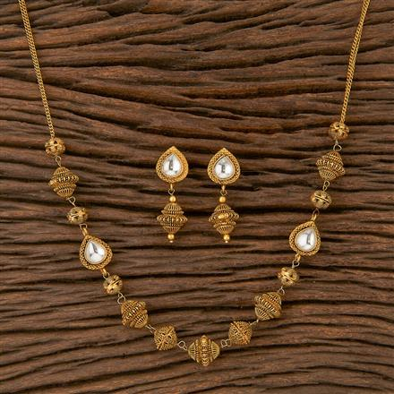 500241 Antique Mala Necklace With Gold Plating