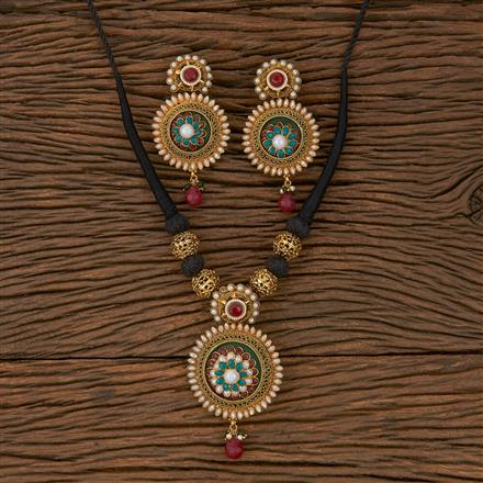 500258 Antique Classic Necklace With Gold Plating