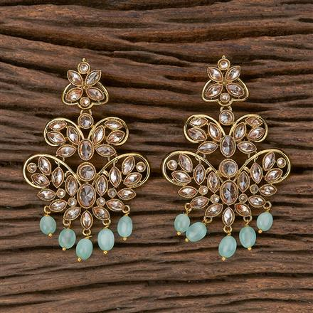 500268 Antique Classic Earring With Mehndi Plating