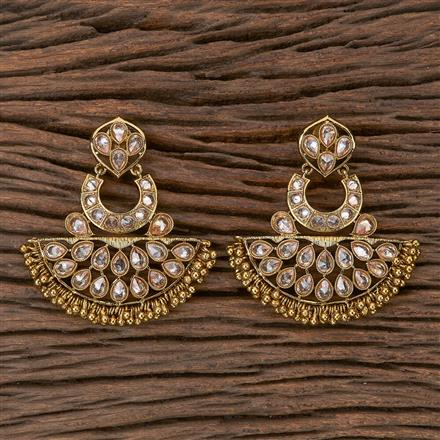 500269 Antique Chand Earring With Mehndi Plating
