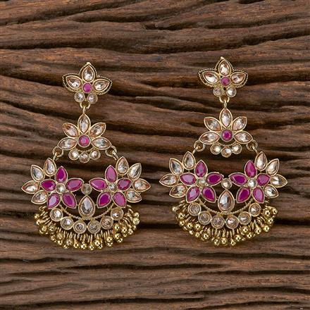 500273 Antique Chand Earring With Mehndi Plating