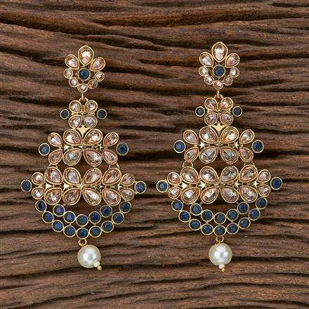 500274 Antique Classic Earring With Mehndi Plating