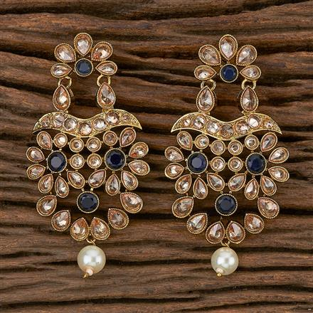 500279 Antique Classic Earring With Mehndi Plating
