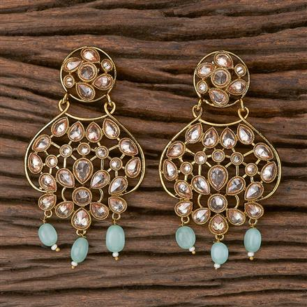500284 Antique Classic Earring With Mehndi Plating
