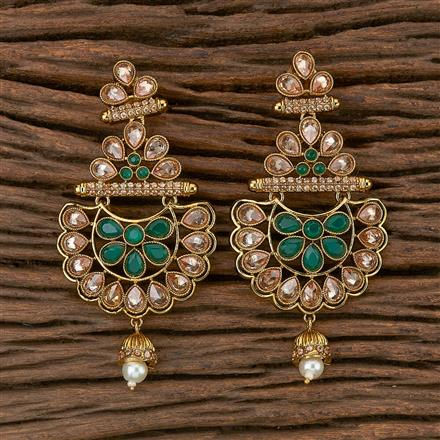 500285 Antique Classic Earring With Mehndi Plating