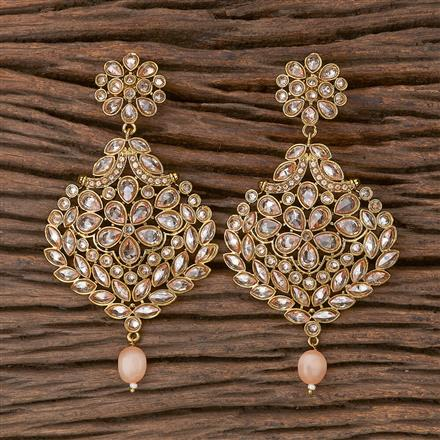 500287 Antique Classic Earring With Mehndi Plating