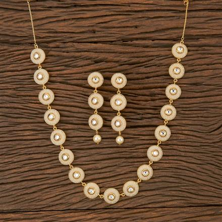 500297 Antique Mala Necklace With Gold Plating