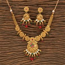 500327 Antique Classic Necklace With Matte Gold Plating