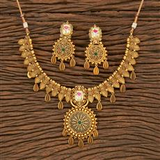 500332 Antique Classic Necklace With Matte Gold Plating