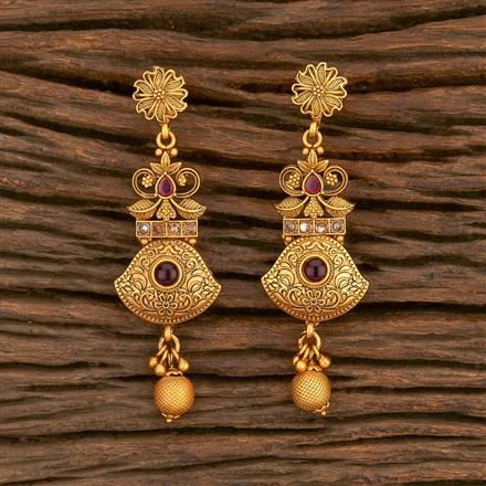 500344 Antique Delicate Earring With Matte Gold Plating