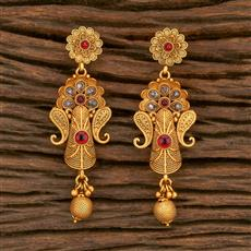 500349 Antique Delicate Earring With Matte Gold Plating