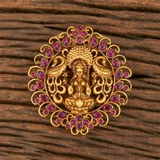 500355 Antique Temple Hair Brooch With Matte Gold Plating