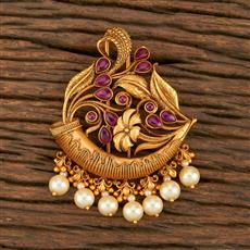 500356 Antique Classic Hair Brooch With Matte Gold Plating