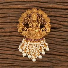 500357 Antique Temple Hair Brooch With Matte Gold Plating