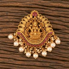 500358 Antique Temple Hair Brooch With Matte Gold Plating