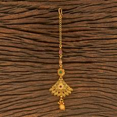 500372 Antique Delicate Tikka With Matte Gold Plating