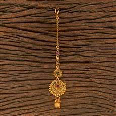 500374 Antique Delicate Tikka With Matte Gold Plating