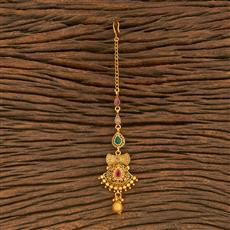 500375 Antique Delicate Tikka With Matte Gold Plating