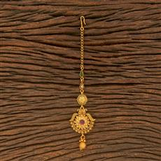 500377 Antique Delicate Tikka With Matte Gold Plating