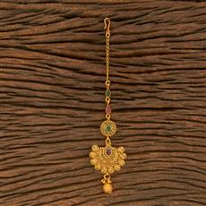 500380 Antique Chand Tikka With Matte Gold Plating
