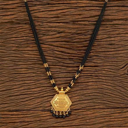 500386 Antique Classic Mangalsutra With Gold Plating