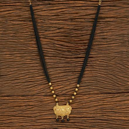 500390 Antique Classic Mangalsutra With Gold Plating