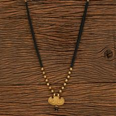 500391 Antique Classic Mangalsutra With Gold Plating
