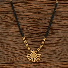 500394 Antique Classic Mangalsutra With Gold Plating