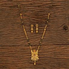 500396 Antique Classic Mangalsutra With Matte Gold Plating