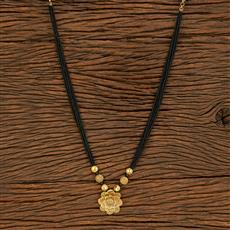500398 Antique Classic Mangalsutra With Gold Plating