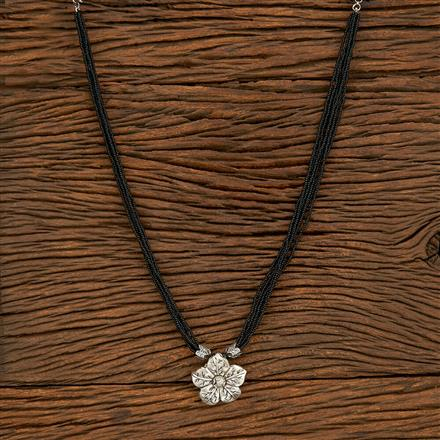 500410 Antique Classic Mangalsutra With Oxidised Plating
