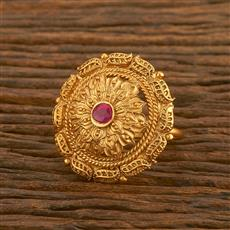 500470 Antique Classic Ring With Matte Gold Plating