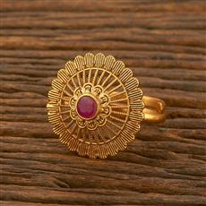 500480 Antique Classic Ring With Matte Gold Plating