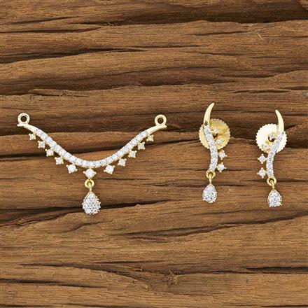 50081 CZ Delicate Mangalsutra with 2 tone plating