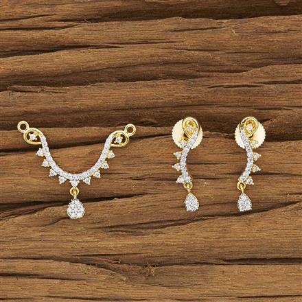 50083 CZ Delicate Mangalsutra with 2 tone plating