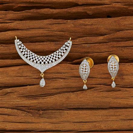 50097 CZ Classic Mangalsutra with 2 tone plating