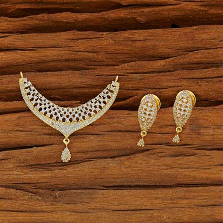 50098 CZ Classic Mangalsutra with gold plating