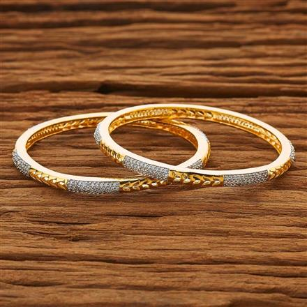 50114 CZ Classic Bangles with 2 tone plating