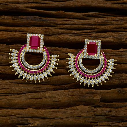 50234 CZ Chand Earring with gold plating