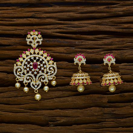 50235 CZ Classic Pendant Set with gold plating