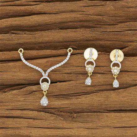 50253 CZ Delicate Mangalsutra with 2 tone plating