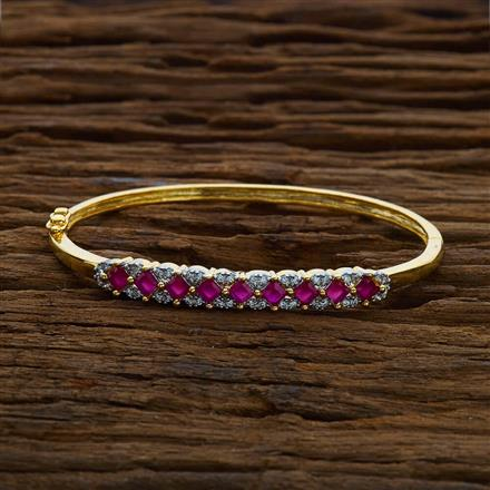 50344 CZ Delicate Kada with 2 tone plating