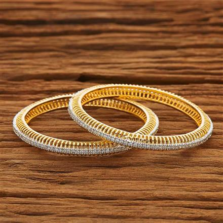 50434 CZ Classic Bangles with 2 tone plating