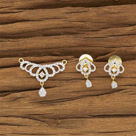 50438 CZ Delicate Mangalsutra with 2 tone plating