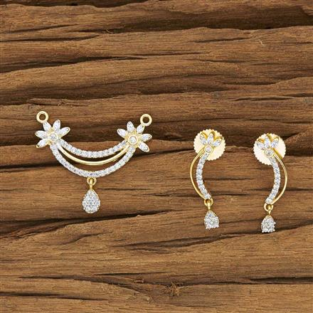 50446 CZ Delicate Mangalsutra with 2 tone plating
