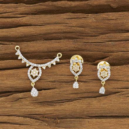 50450 CZ Delicate Mangalsutra with 2 tone plating
