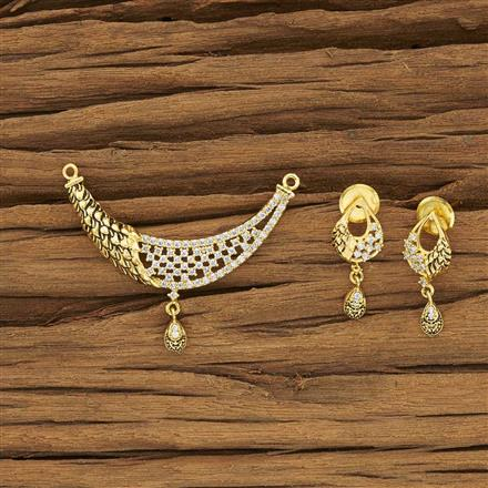 50534 CZ Classic Mangalsutra with gold plating