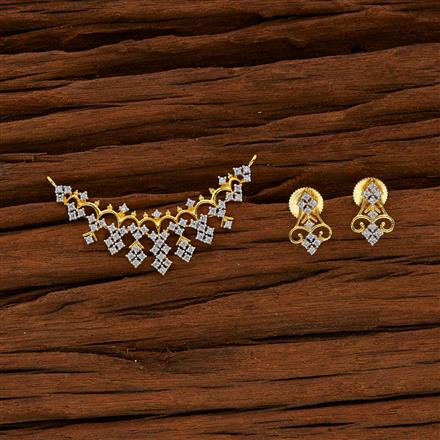 50563 CZ Classic Mangalsutra with 2 tone plating