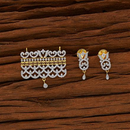 50569 CZ Classic Mangalsutra with 2 tone plating